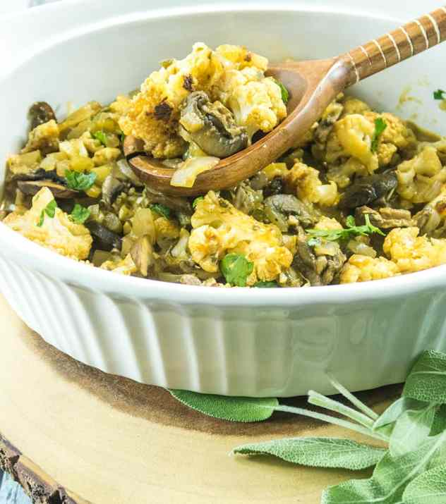 Roasted Cauliflower Stuffing (Gluten Free)