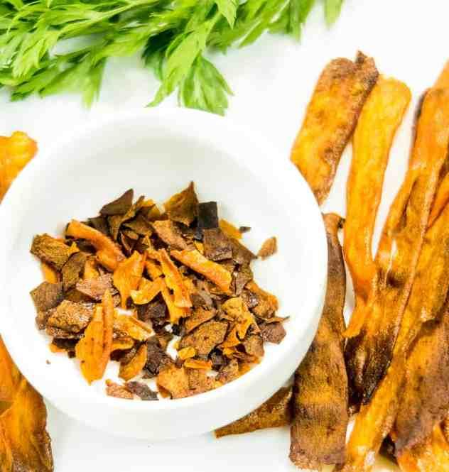 Baked Crispy Carrot Bacon (Vegan & Gluten Free)