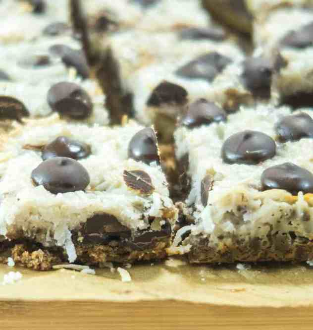 Easy Healthier Magic Cookie Bars (Gluten Free)