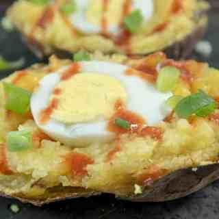 Twice Baked Breakfast Sweet Potatoes