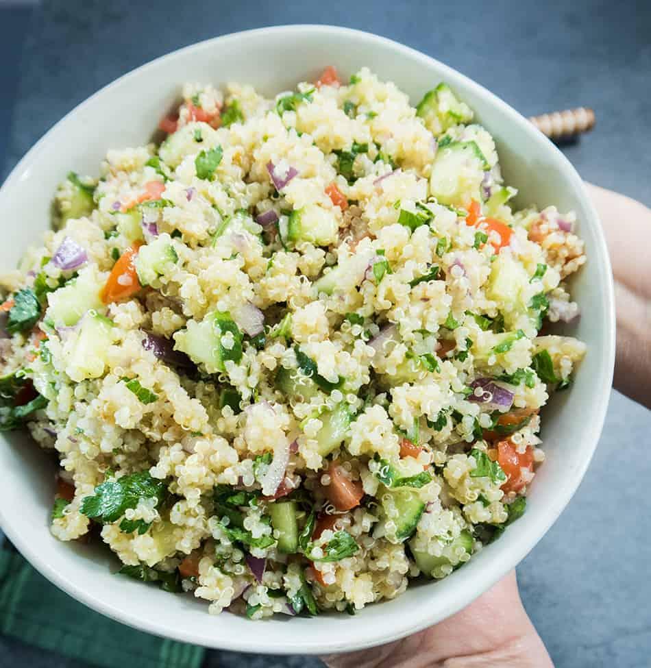Quinoa Tabouli Salad (Vegan & Gluten Free)