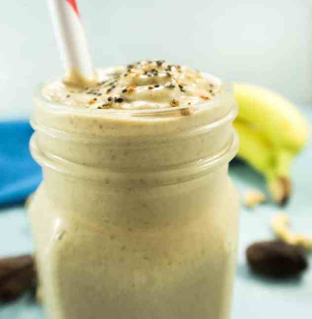 Cashew Date Banana Shake (Vegan & Paleo)