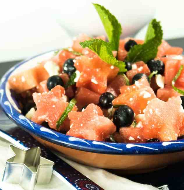 5 Ingredient Watermelon Blueberry Salad