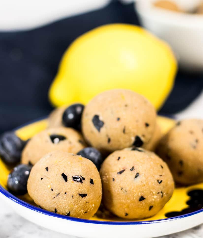 No Bake Lemon Blueberry Energy Bites (Paleo & Gluten Free)