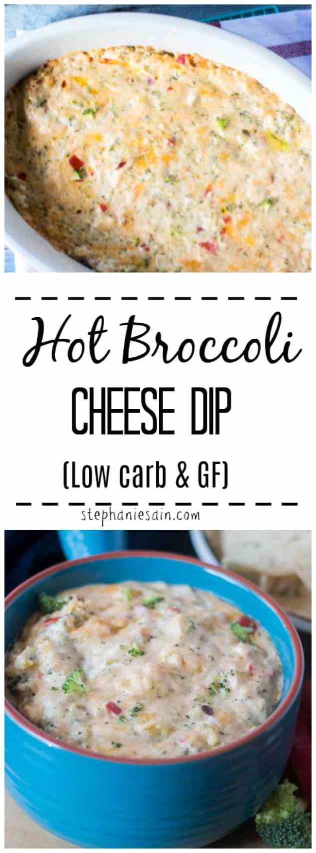 This Broccoli Cheese Dip is super easy to make and perfect for gatherings, parties, & football games. An appetizer that is sure to be a crowd pleaser. Warm, cheesy dip with broccoli. Low Carb & Gluten Free.
