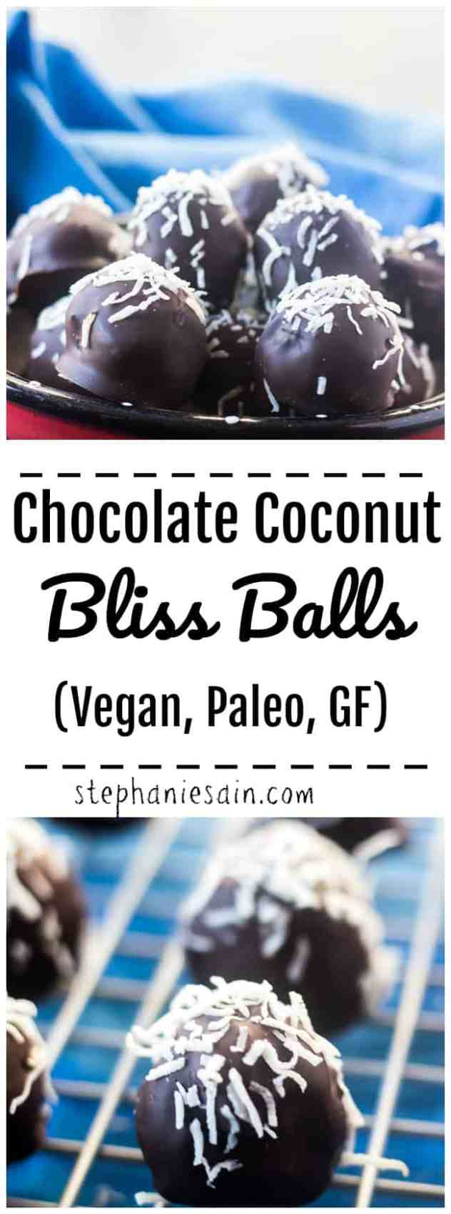 These Chocolate Coconut Balls are super easy to make, rich, decadent and tastes like a mounds candy bar only healthier. Great addition to the holidays or perfect for dessert and to satisfy a sweet tooth. Vegan, Paleo, GF.