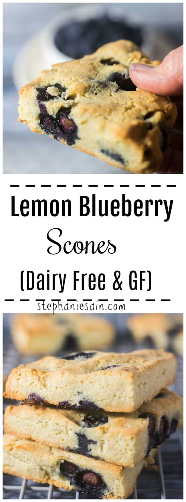 These Blueberry Scones are loaded with fresh blueberries and lemon zest. A healthier low carb treat for breakfast or snacking. Made with almond & coconut flour and No added refined sugar. GF, Dairy Free.