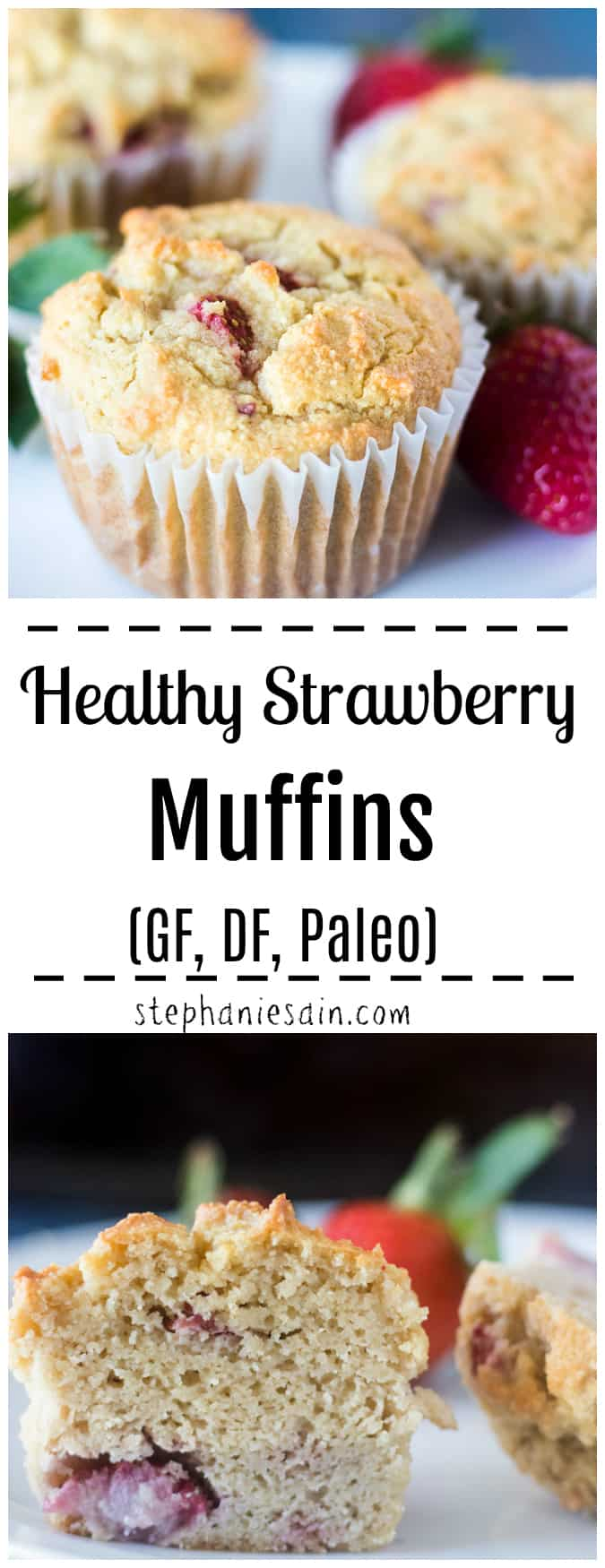 Healthy Strawberry Muffins