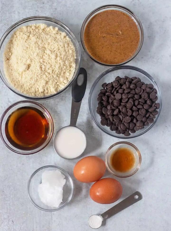 Ingredients in Chocolate Chip Cookie Bars
