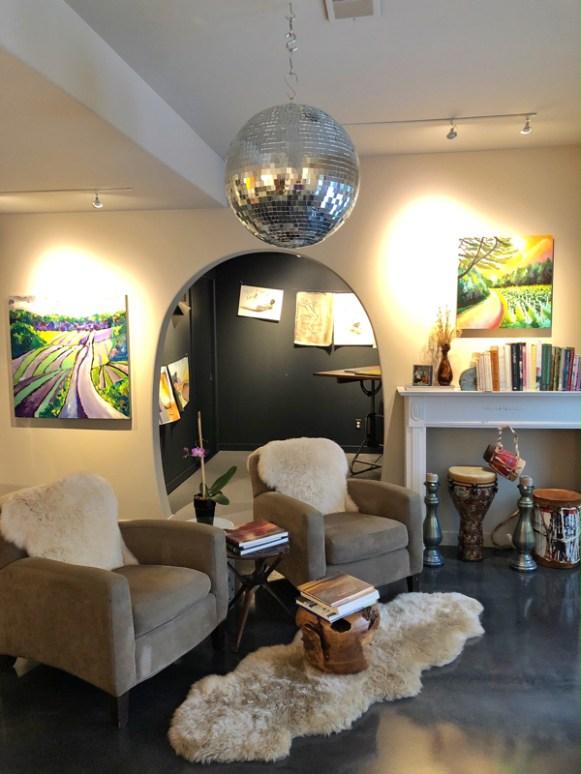 A glimpse inside a decluttered studio