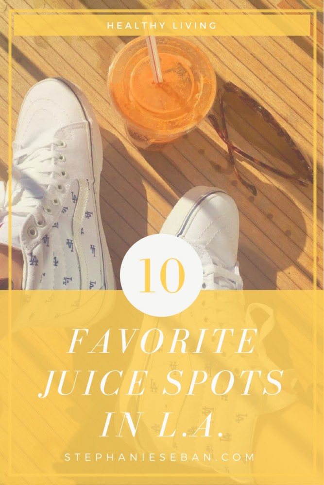 Having become somewhat of a juice snob, I have learned that not all juiceries are created equal, so here are my top juice bar picks in my hometown of Los Angeles - StephanieSeban.com