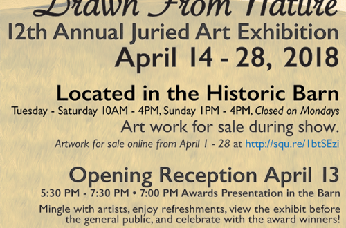 Drawn From Nature, 12th Annual Juried Art Exhibition 2018
