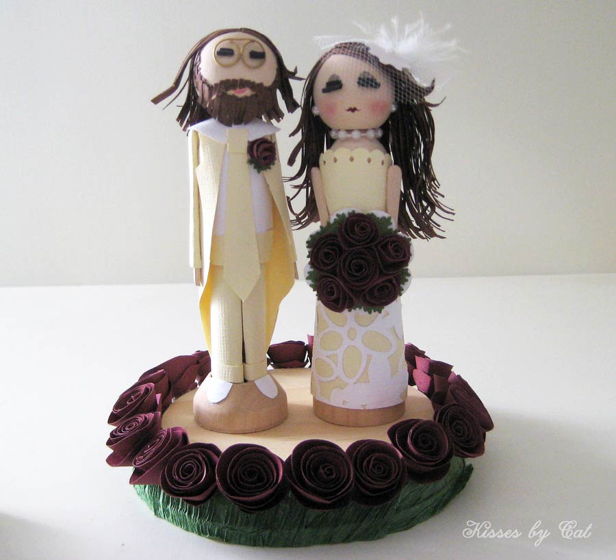 Custom Wedding Cake Topper  stephanieteagueeventsblog