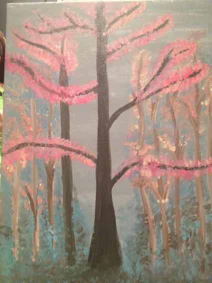 "My artwork from ""Wine & Canvas"" Night."