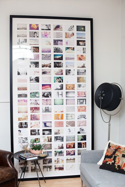 Collected photos that are displayed in a frame. For more, visit designchalk.wordpress.com