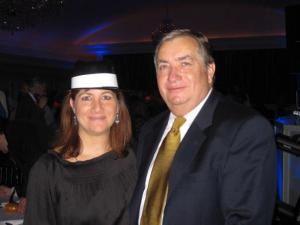 How about this plastic hat given out at my cousin Michael's wedding? They were fabulous and we all wore them.