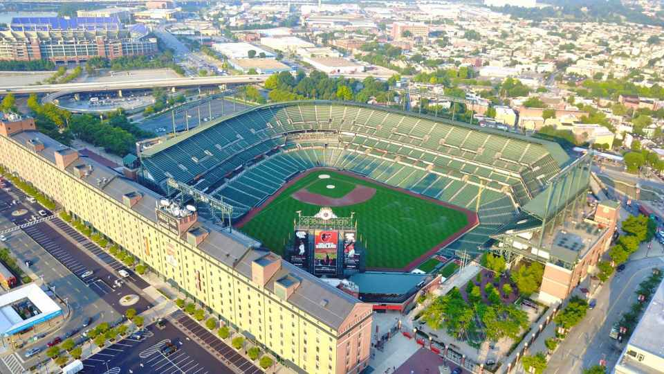 aerial aerial view architecture baseball