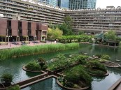 The Barbican Center courtyard