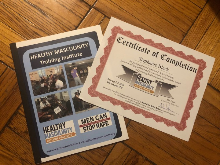 Certificate: Healthy Masculinity Training Institute