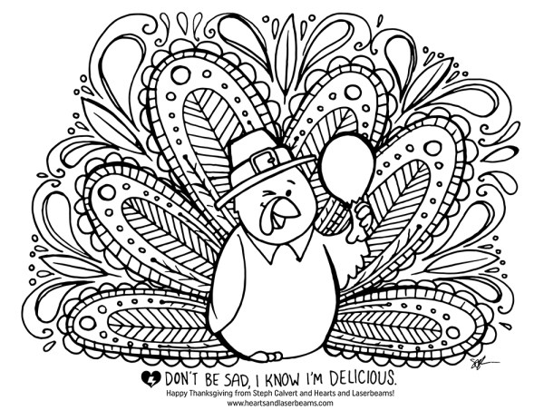 coloring page turkey # 36