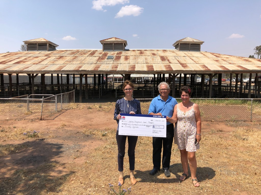 Funding announcement at West Wyalong Showground.
