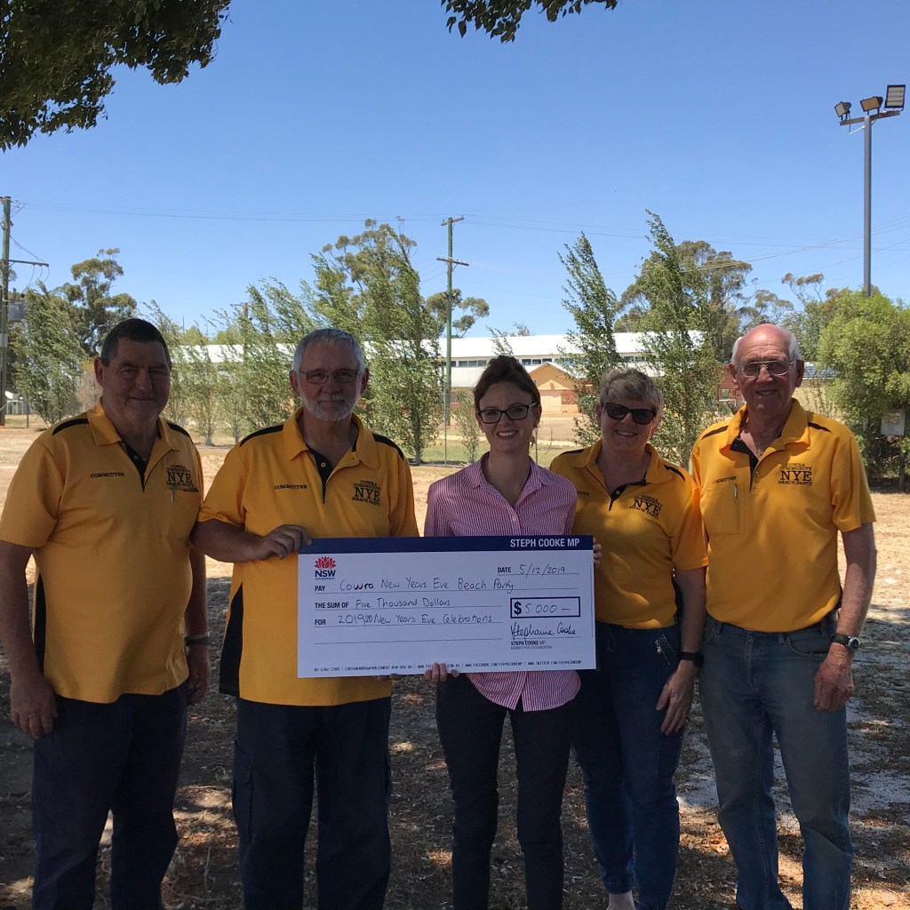 Member for Cootamundra Steph Cooke announcing funding for the Cowra New Years Eve Beach Party