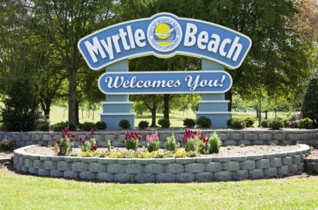 The Welcome to Myrtle Beach sign