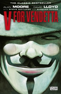 The cover of Moore's V for Vendetta