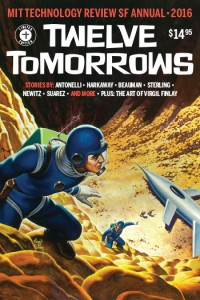 The cover of Sterling's Twelve Tomorrows (2016)
