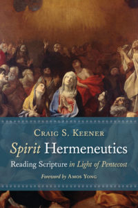 The cover of Keener's Spirit Hermeneutics