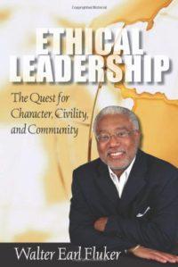 The cover of Fluker's Ethical Leadership