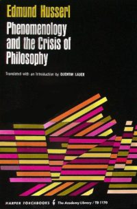 The cover of Husserl's Phenomenology and the Crisis of Philosophy