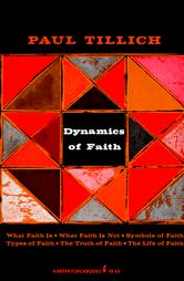 The cover of Tillich's Dynamics of Faith