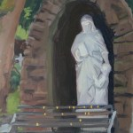 Holy well statue
