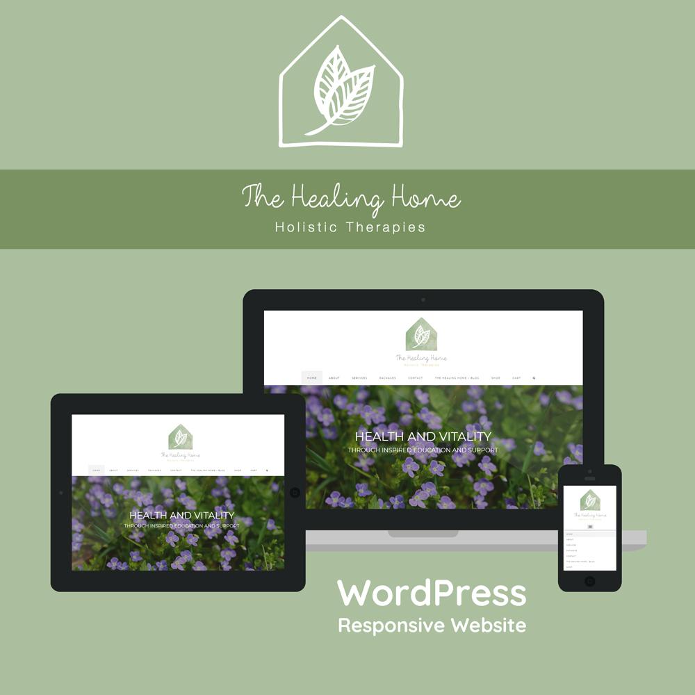 Stephen Brumwell Web & Graphics   The Healing Home WordPress Responsive Website Design