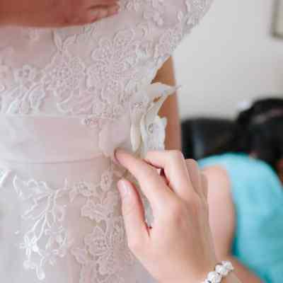 Norfolk wedding photographer – bridal dress