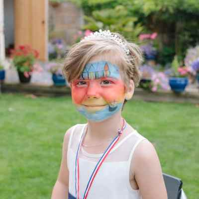 Norfolk wedding photographer – face paint