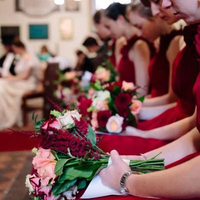 Norfolk wedding photographer – bridesmaids flowers