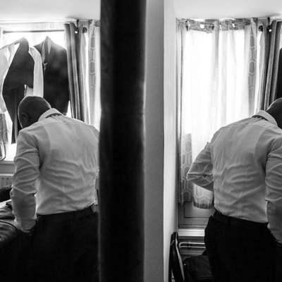 Norfolk wedding photographer – groom prep