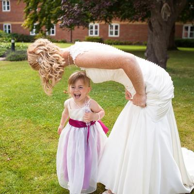 Norfolk wedding photographer – bride mother and daughter