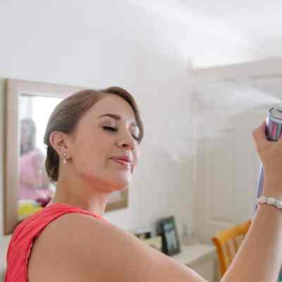 Norfolk wedding photographer – bridesmaid hair spray