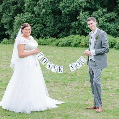 Norfolk wedding photographer – bride and groom thank you