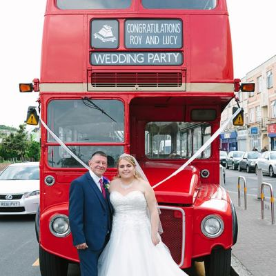 Norfolk wedding photographer – wedding double decker bus