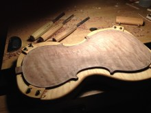 The turn-table/cradle is great for working on the fluting over the purfling