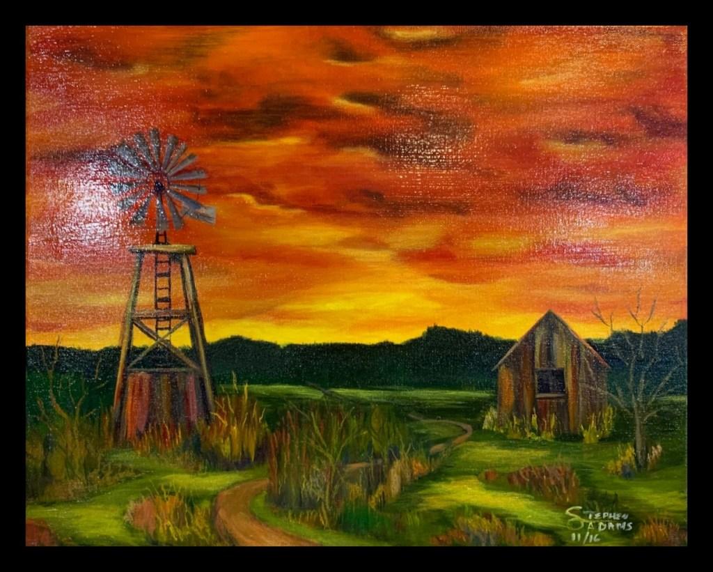 Abandoned Farm at Sunset
