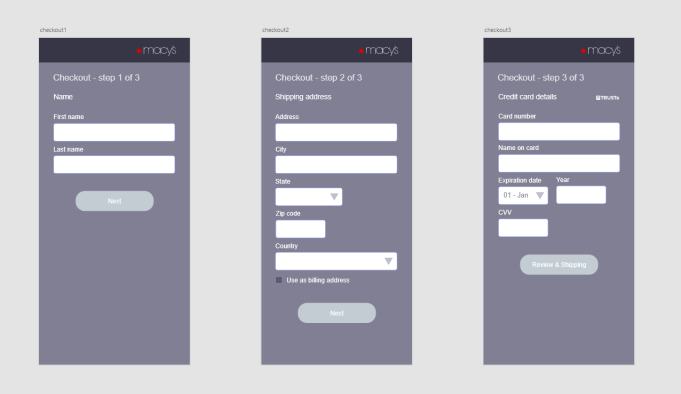 Re-designed check-out flow
