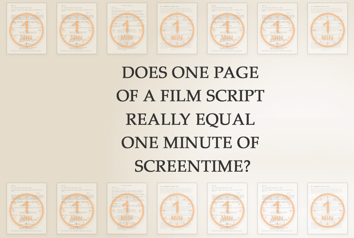 Does one page of a film script really equal one minute of screentime?