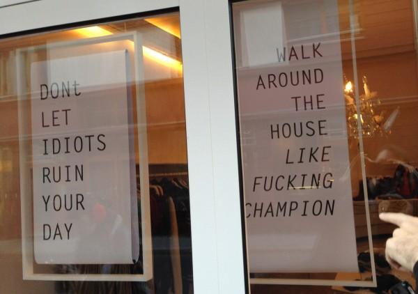 Wisdom from Berlin shop window