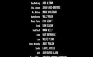 Movie credits