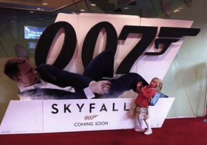 Action movies such as James Bond